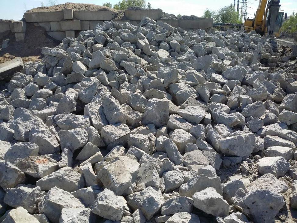 Бой бетона, кирпича, асфальта
